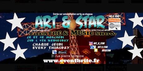 ART & STAR scène ouverte open pic comédie comedy stand up music musique dance billets