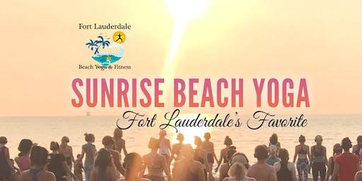 Sunrise Beach Yoga on Fort Lauderdale Beach