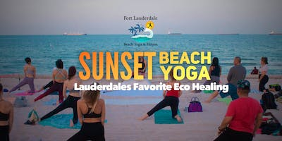 Sunset Beach Yoga on Fort Lauderdale Beach - between lifeguard 12 & 13