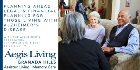 Planning Ahead: Legal & Financial Planning for Alzheimer's Disease tickets
