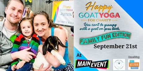 Happy Goat Yoga-For Charity: Family Fun Edition at Main Event tickets