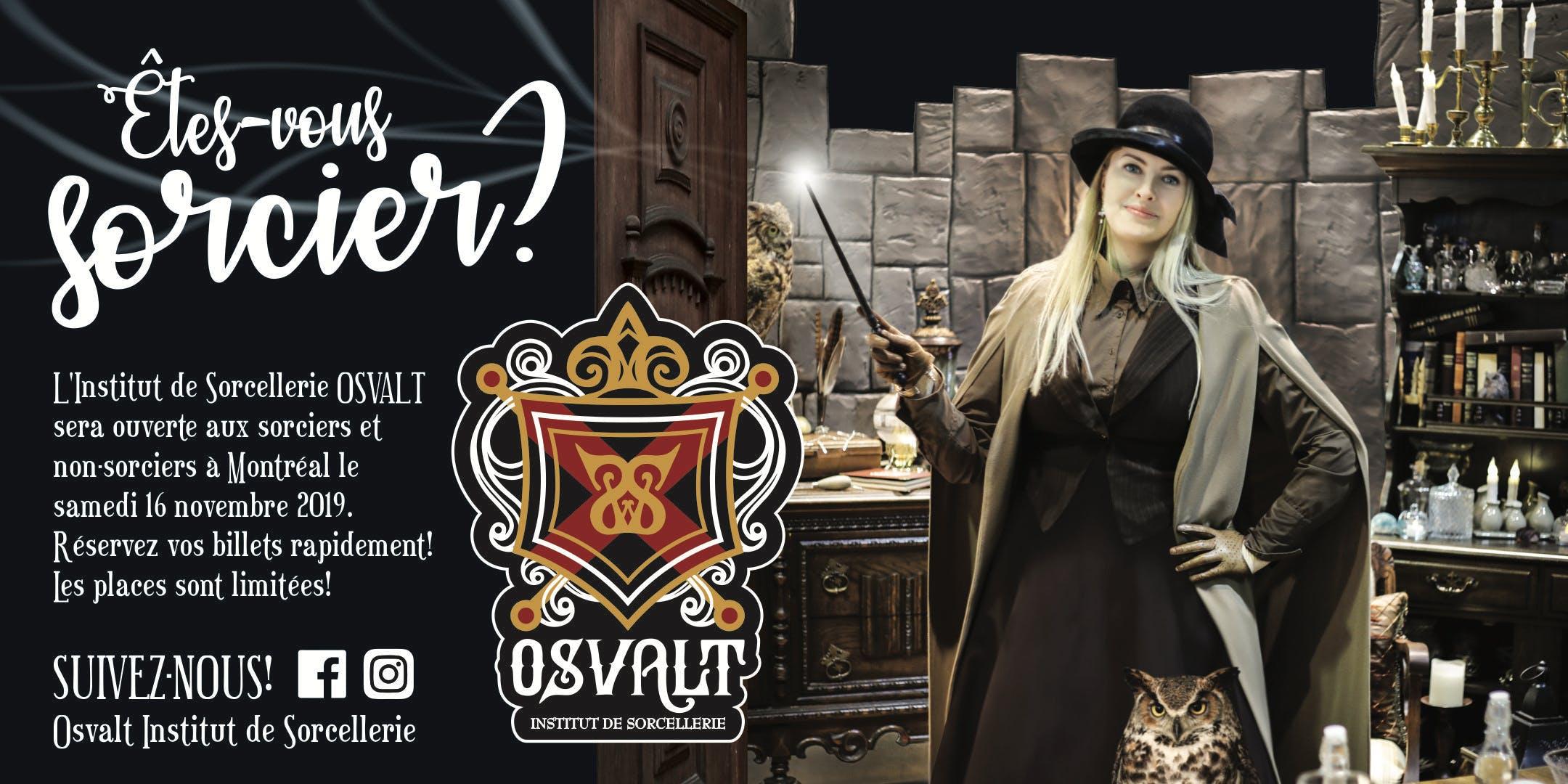 OSVALT - INSTITUT DE SORCELLERIE - Samedi 16 novembre 2019