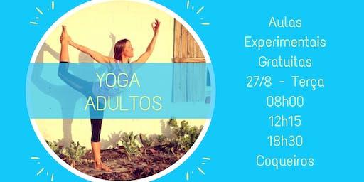 Yoga Adultos - Aula Experimental em Coqueiros