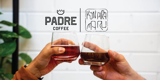 Coffee and Wine Tasting with Padre Coffee and Konpira Maru