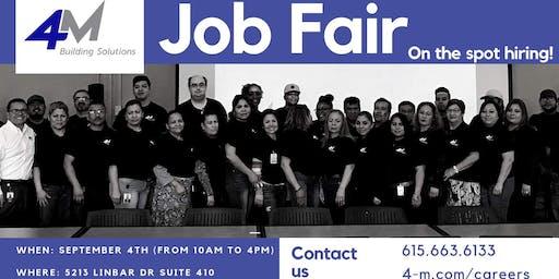 4M Building Solutions Job Fair!
