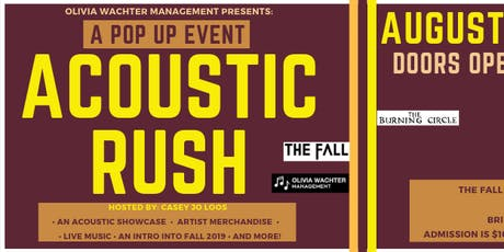 An Acoustic Rush (Pop Up #3) tickets