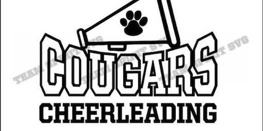 Junior Cougar Cheer Camp Sept. 19 & 20