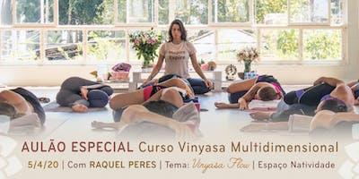 Aulão Especial com Raquel Peres | Tema: VinyasaFlow