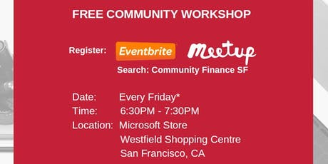 Financial Literacy - Increase Cash Flow / Debt Management  - Community Finance SF tickets