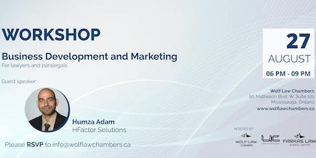 Business Development and Marketing for lawyers and paralegals tickets