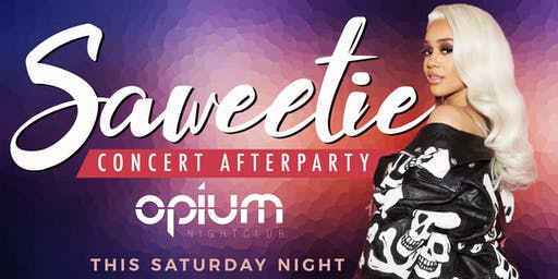 Saweetie Hosts 2Chainz and Friends Afterparty This Saturday At Opium