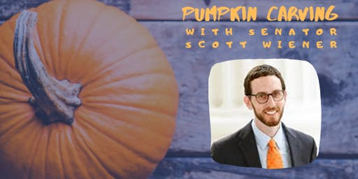 Annual Pumpkin Carving Contest with Senator Scott Wiener
