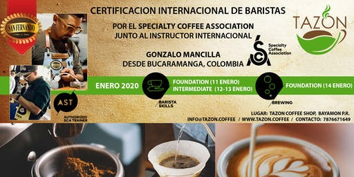 Certificación Internacional de Barista por el SCA