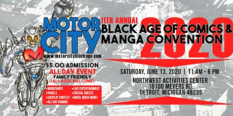 MOTOR CITY BLACK AGE OF COMICS/MANGA CON 2020 tickets