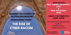 Speaker Series: The Rise of Cyber Racism