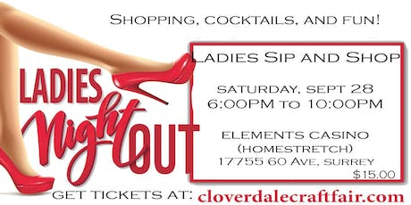 Ladies Sip and Shop  tickets