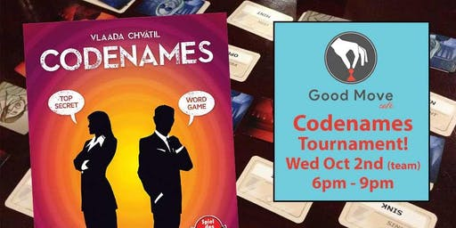 CODENAMES Tournament - October 2nd!
