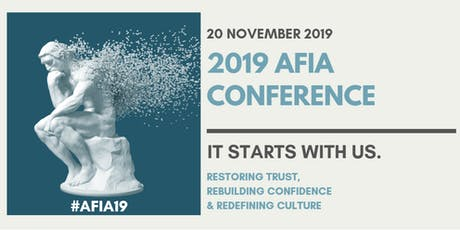 2019 AFIA Conference tickets