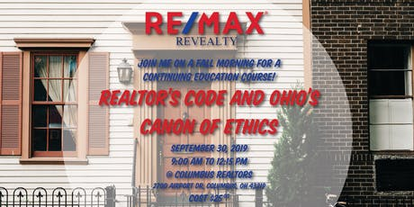 CE: Realtor's Code and Ohio's Canon of Ethics tickets