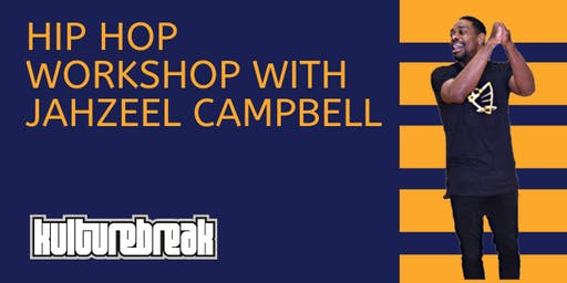 All Ages Hip Hop Dance Workshop with Jahzeel Campbell