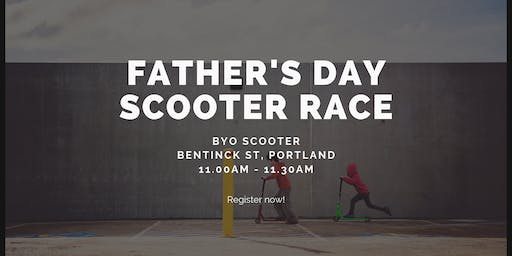 Father's Day Scooter Race