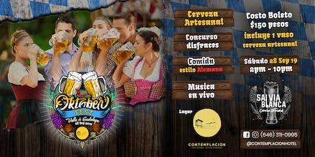Oktoberfest en el Valle de Guadalupe por Contemplación Hotel tickets