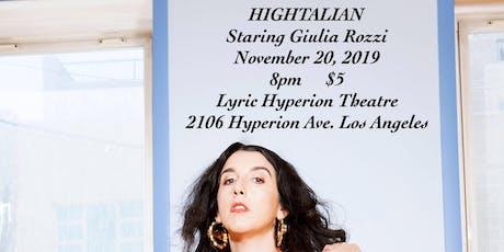 Hightalian tickets
