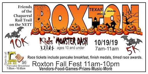Roxton TX NETT Monster Dash 5K, 10K and Kids' Fun Run