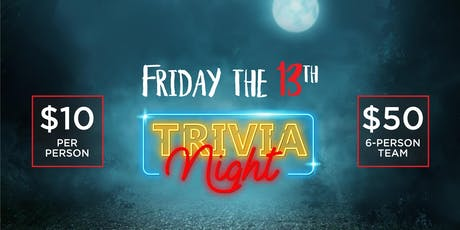 Friday the 13th Trivia Fundraiser tickets
