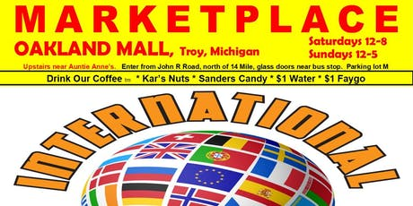crafters, direct sales, exhibitors, vendors wanted: MARKETPLACE, Oakland Mall, 8 weeks $199 tickets