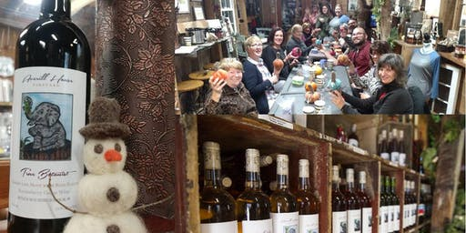 Felted Snowman Making & Fall Wine Tasting