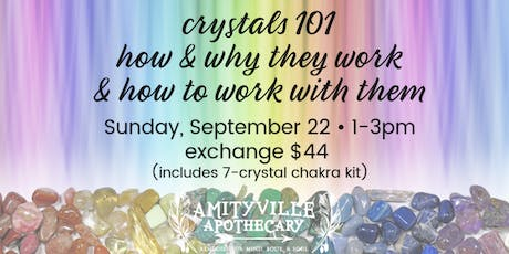Crystals 101- Why & How They Work and How to Work with Them tickets