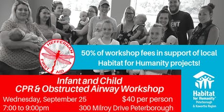Infant/Child CPR & Choking Workshop Fundraiser for Habitat  for Humanity tickets