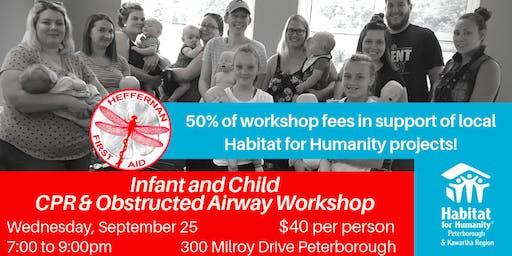 Infant/Child CPR & Choking Workshop Fundraiser for Habitat  for Humanity