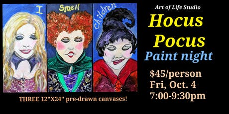 Paint Night: Hocus Pocus tickets