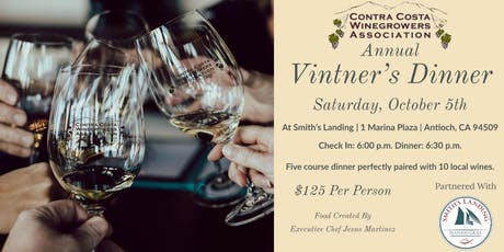 2019 Contra Costa Winegrowers Vintner Dinner tickets