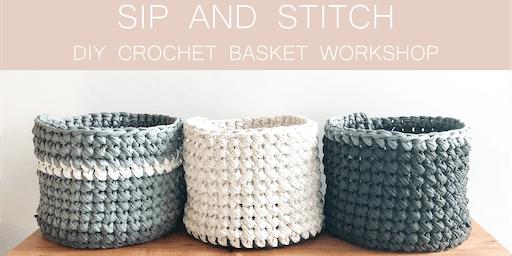 Sip and Stitch DIY Crochet Basket Workshop