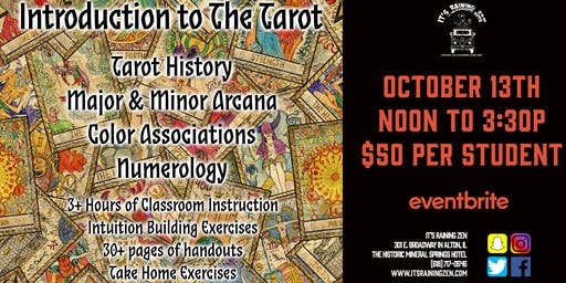 Introduction to The Tarot - October 2019