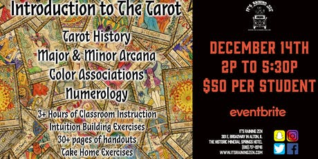 Introduction to The Tarot - December 2019 tickets