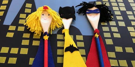 Superhero Spoon Puppet | Engadine