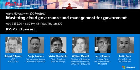 Azure Gov DC Meetup: Mastering cloud governance and management for gov tickets
