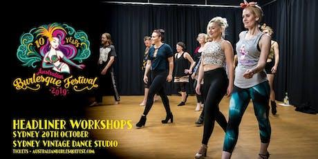 The Australian Burlesque Festival 2019 - Sydney Workshops tickets