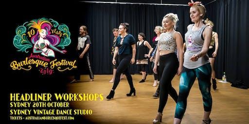 The Australian Burlesque Festival 2019 - Sydney Workshops