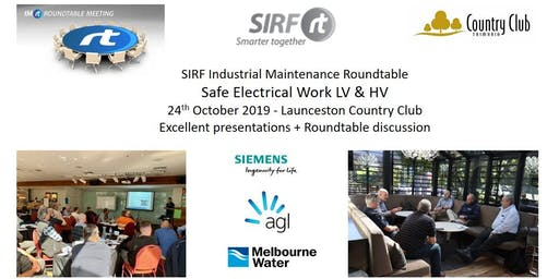 VICTAS IMRt Safe Electrical Work LV & HV Roundtable - Launceston Country Club