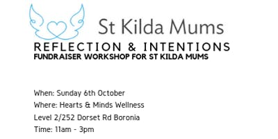 Reflection and Intentions Fundraiser Workshop for St Kilda Mums