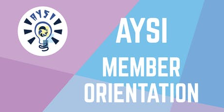 AYSI Member Orientation tickets