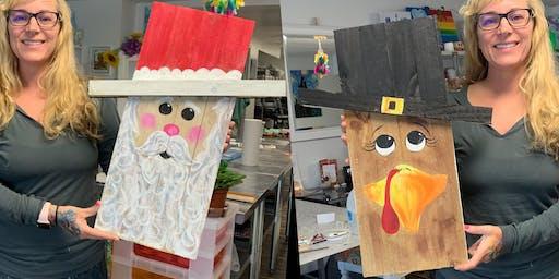 Turkey/Santa: Pasadena, Bella Napoli with Artist Katie Detrich!