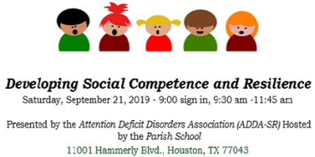 Developing Social Competence and Resilience tickets