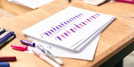 Christmas Beginner Brush Lettering tickets