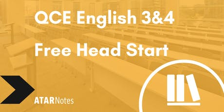 FREE QCE English Units 3&4 Head Start Lecture tickets